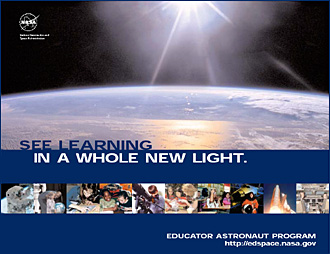Front cover of the Educator Astronaut Poster