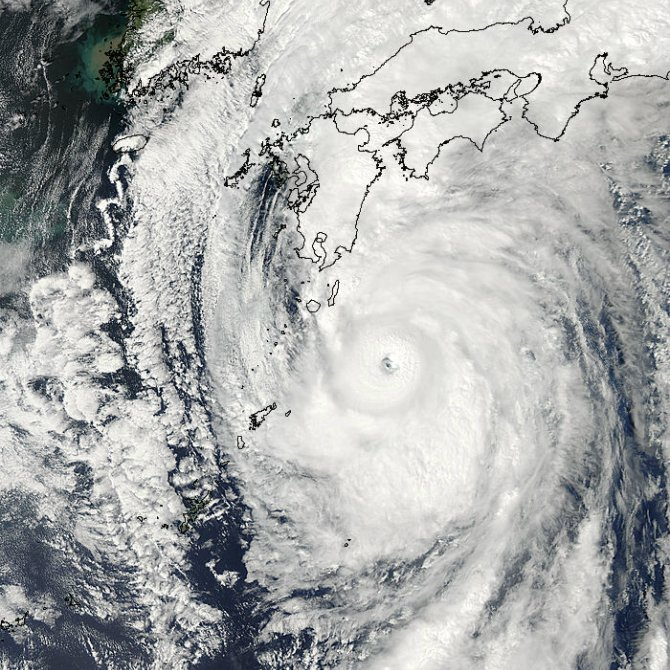 Typhoon Roke captured by MODIS on Sept. 20 at 04:45 UTC (12:20 a.m. EDT).