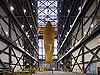 The external tank in the VAB