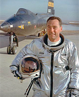 Pilot Pete Knight in front of X-15