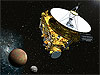 Artist's rendering of New Horizons spacecraft at Pluto
