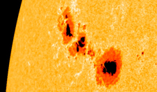 The sun on Sept. 24, 2011 as seen by SDO/HMI, zoomed in on active region 1302.