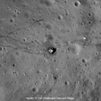 Low periapsis Narrow Angle Camera image of the Apollo 17 Landing Site