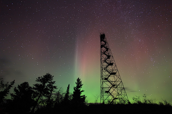 Aurora image taken by Travis Novitsky of Grand Portage, Northeastern Minnesota on Sept. 26, 2011.