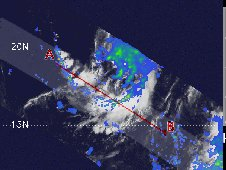 Tropical Depression 22W formed in the NW Pacific, and some of the rain was falling at 2 inches (50 mm) per hour (red).