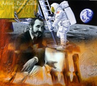 Montage painting of Paul Calle by his son, Chris Calle
