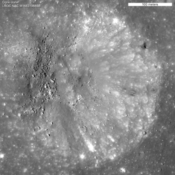 LROC NAC low orbit image of Cone crater
