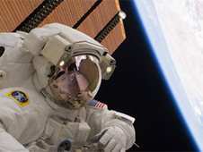 NASA astronaut Clayton Anderson conducts a spacewalk. Photo credit: NASA