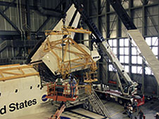 An ALTA pod is tested on Endeavour.