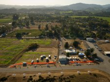 Campus of the 2011 Green Flight Challenge, sponsored by Google, is seen in this aerial view at the Charles M. Schulz Sonoma County Airport in Santa Rosa, Calif.