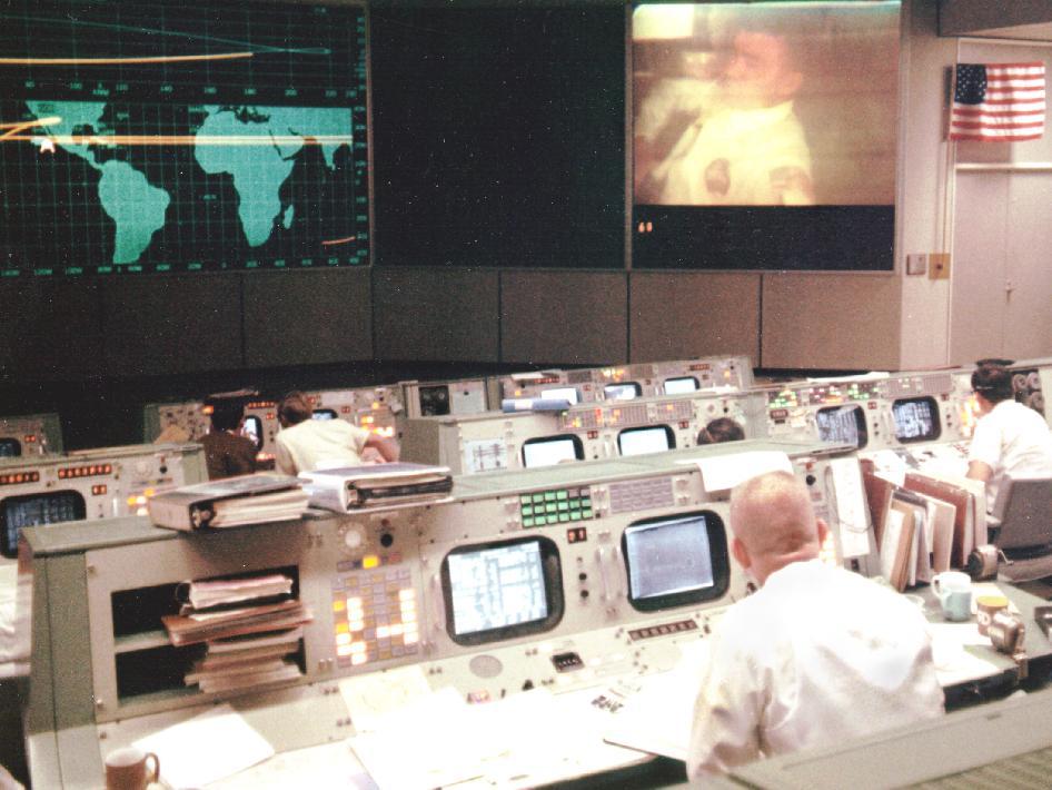 Gene Kranz in Mission Control