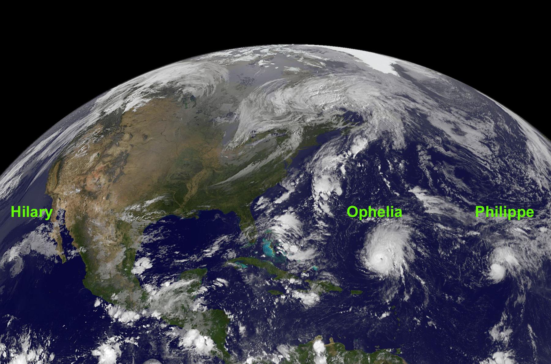 NASA - Hurricane Season 2011: Hurricane Ophelia (Atlantic ...