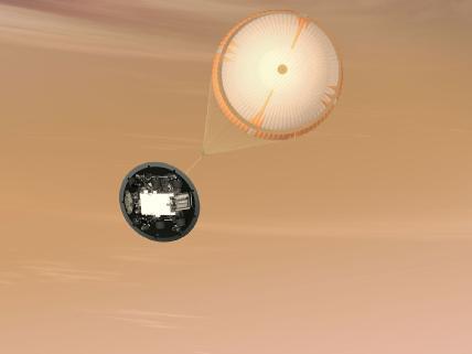 Mars Science Laboratory Parachute, Artist