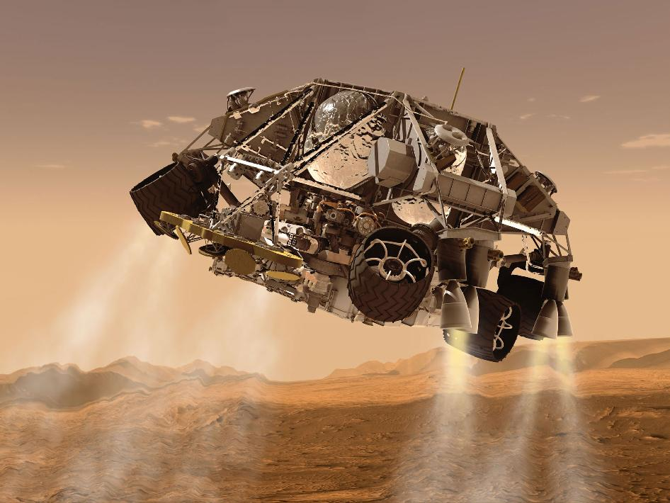 Curiosity and Descent Stage, Artist's Concept