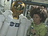 Expedition 27 Flight Engineer Cady Coleman with Robonaut 2