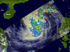 TRMM satellite had a good look at typhoon Nalgae on 2 October 2011 at 0637 UTC