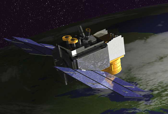 Artist's concept of ICEsat satellite