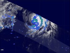 NASA's TRMM satellite flew over Philippe on Oct. 6 at 00:24 UTC. Philippe's rainfall was mostly moderate.