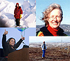 Portrait collage of Claire Parkinson, Cynthia Rosenzweig, Erika Podest and Erica Alston