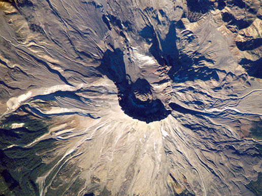 Mount St. Helens from Space