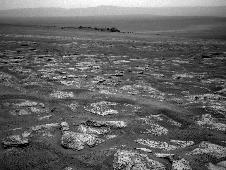 Image from the navigation camera on NASA's Mars Exploration Rover Opportunity
