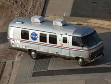Astrovan travels to the launch pad.