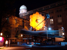 Full scale model of the JWST space telescope in Munich, Germany
