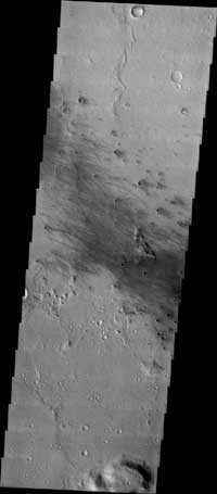 THEMIS Visible Image of Spirit's Landing Site Area - Gusev Crater