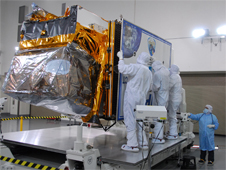 NPP in a clean room at Vandenberg Air Force Base in California