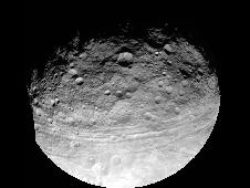 Full view of the giant asteroid Vesta