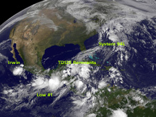 satellite image of storms in Northwestern Hemisphere