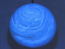 Japanese Aerospace Exploration Agency Ink Ball 2 experiment demonstrates physical properties of two liquids by mixing ink with water.