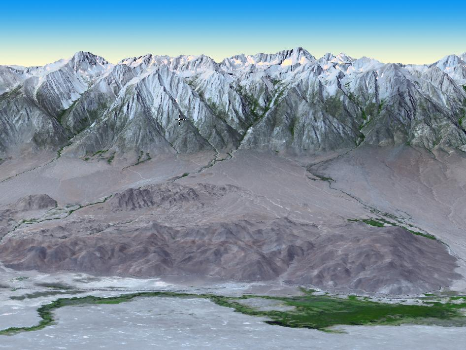 3-D perspective view of Mt. Whitney