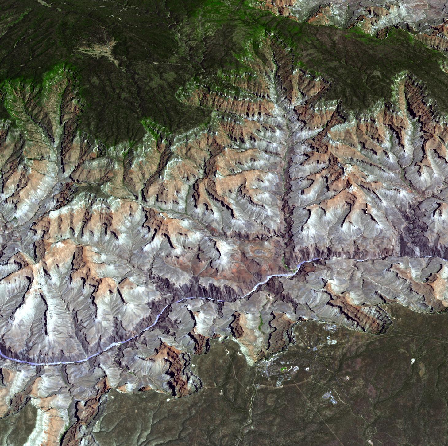 NASA NASA Satellite Reveals Grandeur Of Arizonas Grand Canyon - Us map aster