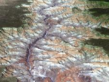 3-D spacebird's-eye view of the eastern part of Grand Canyon National Park in northern Arizona