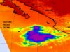 AIRS infrared image of Tropical Storm Irwin taken on Oct. 14 at 5 p.m. EDT.