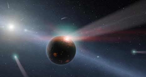 Artist concept of a comet storm