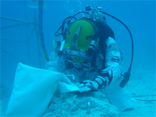 Aquanauts will be weighed-out to NEA-gravity and test concepts for EVA tools and translation devices. Photo credit: NASA