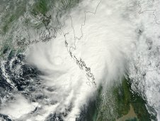 This visible image of Tropical Cyclone 02B was captured by NASA's Terra satellite on Oct. 19 at 04:25 UTC.