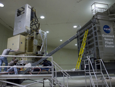 GPM satellite on the high capacity centrifuge