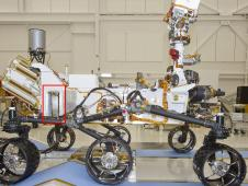 A Russian-built, neutron-shooting instrument on the Curiosity rover