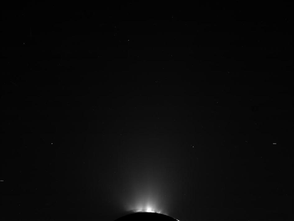 Raw, unprocessed image of Saturn's moon Enceladus