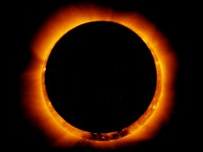 On Jan. 4, 2011, the Hinode satellite captured a breathtaking view of an annular solar eclipse.