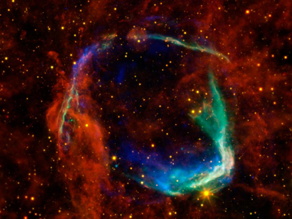 Multi-wavelength view of all that remains of the oldest documented example of a supernova, called RCW 86
