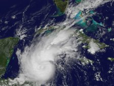 Rina has strengthened into a hurricane during the early afternoon (EDT) on Oct. 24