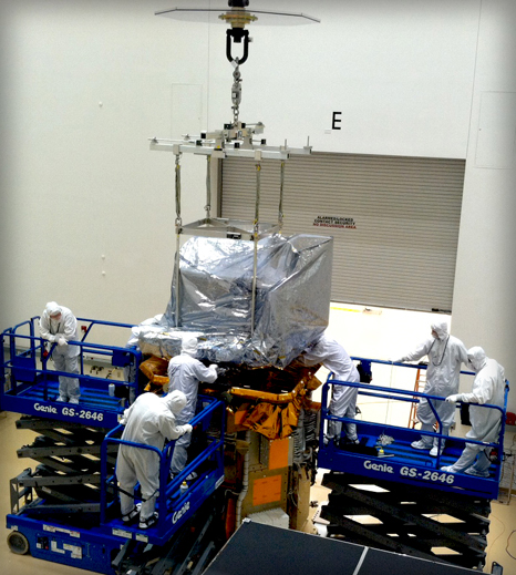OLI Integration onto LDCM spacecraft