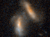 Hubble image of merging galaxies