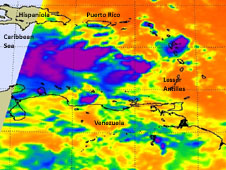 On October 25, when NASA's Aqua satellite passed over System 97L it collected valuable data on cloud top temperatures.