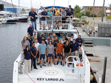 The NEEMO 15 team all together again after splash up. Photo credit: NASA