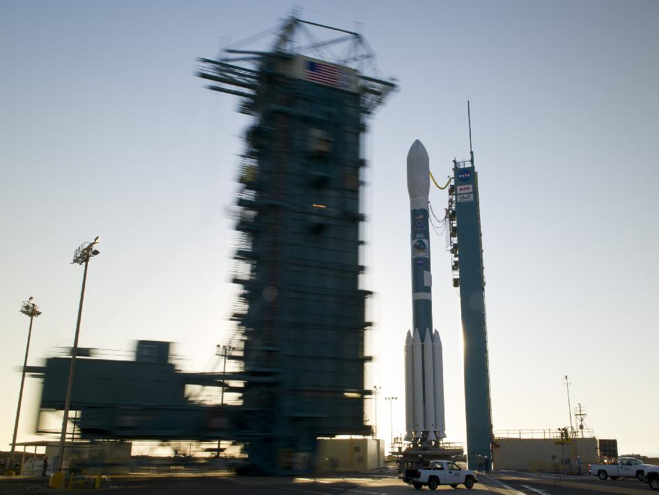 NPP spacecraft on the launch pad